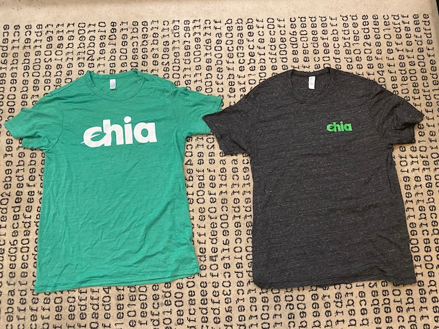 Green and Dark Gray Chia T-Shirts